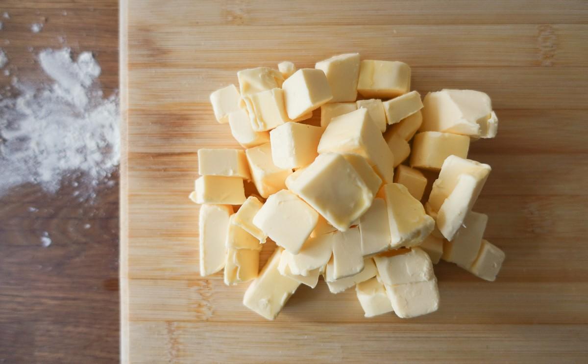 Cubes of butter