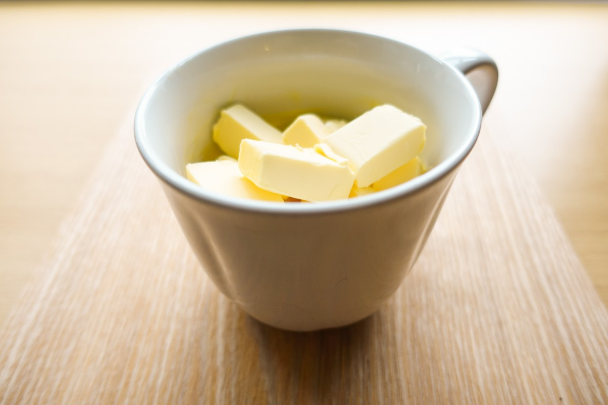 Butter at room temperature